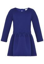 See-Saw - Textured Dress Blue