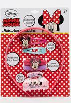 Character Fashion - Minnie Mouse Alice Band Combo Set Mid Pink