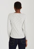edit Maternity - Long Sleeve Henley T-shirt Grey