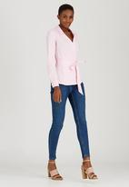 edit - Structured Wrap Shirt Pale Pink