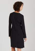ELIGERE - Fluttered Sleeve Bodycon Dress Black