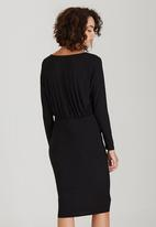 edit - Drapey Pencil Dress Black