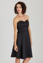ELIGERE - Audrey Dress with Shawl Black