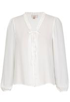edit - Covered Button Blouse Milk