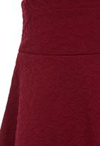 See-Saw - A-line Skirt Dark Red