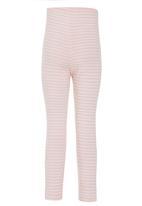 Just chillin - Stripe Leggings Pale Pink