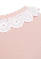 Just chillin - Bunny Border Dress Pale Pink