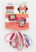 Character Fashion - Minnie Mouse  2 Piece Bobble And 10 Pack Ponies Mid Pink