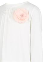See-Saw - Flower Detail Top Off White