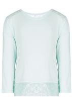 See-Saw - Lace Inset Tee Green