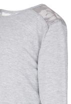 See-Saw - Lace Inset Tee Grey
