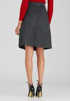 edit - Tab Pocket Skirt Grey Melange