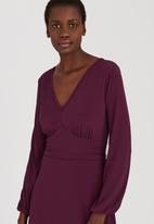edit - Knit Fit & Flare Dress Dark Purple