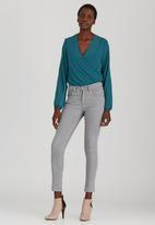 STYLE REPUBLIC - Wrap Bodysuit Mid Blue