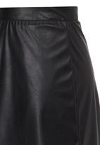 Rebel Republic - PU Skirt Black