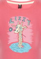 Lizzy - Printed T-Shirt Mid Pink