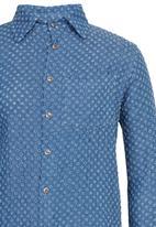 Rebel Republic - Check Tunic Shirt Pale Blue