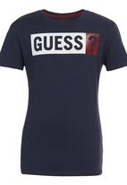 GUESS - Bsc Jsy Crew Screenprint Navy