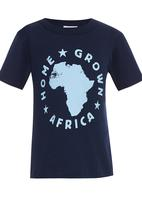 Home Grown Africa - HGA Logo  Tee Navy
