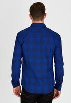 GUESS - Long Sleeve Walden Check Shirt Blue