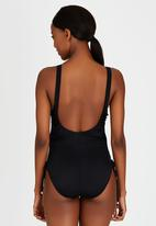 Sun Things - Maternity Ruched One-Piece Black