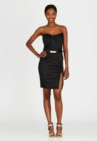 ELIGERE - Midi Cocktail Dress Black