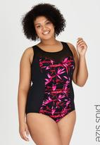 Sun Things - Ruched One-Piece Costume Black