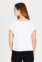 Russell Athletic - Wide Neck Photo Tee White
