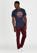 RVCA - Motors Lined T-Shirt Blue