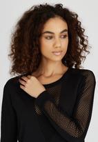 Kate Jordan - Power Mesh Inset Top Black