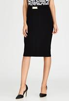 edit - Pencil Skirt with Buckle Detail Black