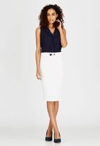 edit - Pencil Skirt with Buckle Detail Milk