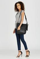 Moda Scapa - Shoulder Bag with Tassel Detail Black