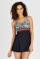 Winmax - Basic Swim Dress Black and White