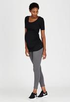 Cherry Melon - Side Gauge Short Sleeve T-shirt Black