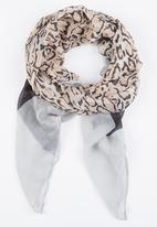 Joy Collectables - Animal Print Scarf Mid Brown