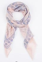 Joy Collectables - Paisley Print Scarf Mid Pink