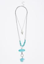 Joy Collectables - Elephant Layered Pendant Necklaces Turquoise