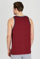 DC - Built Up Pocket Vest Dark Red