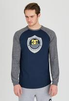 DC - Laco Raglan Long Sleeve T-Shirt Navy