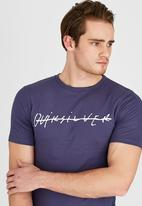Quiksilver - Scrawl T-Shirt Blue