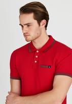 POLO - Fashion Stretch Pique Golfer Red