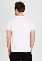 POLO - Classic Dual Print Crew-Neck T-Shirt White
