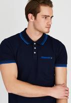 POLO - Fashion Stretch Pique Golfer Navy
