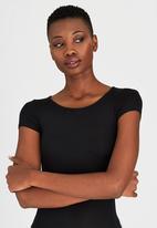 c(inch) - Short Sleeve Bodysuit Black
