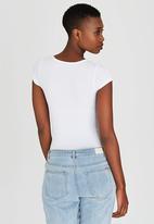 c(inch) - Short Sleeve Bodysuit White