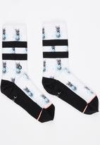 STANCE - Pineapple Socks Black and White