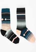 STANCE - Multi-stripe Socks Multi-colour