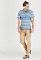 JEEP - Short Sleeve Yarn Dyed Golfer Blue
