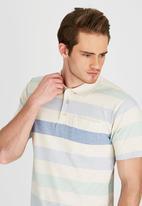 JEEP - Short Sleeve Yarn Dye Golfer Beige